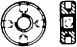 DIN 548 Гайка круглая с радиальными отверстиями, стальная оцинкованная, нержавеющая, латунная