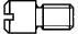 DIN 927 Винт с цилиндрической цапфой и шлицем