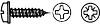 DIN 968 Шуруп саморез с полукруглой головкой с буртиком и крестообразным шлицем