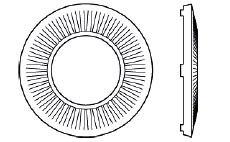 Шайба контактная стальная рифленая